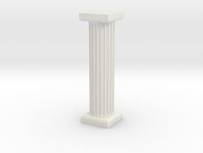Pillar in White Natural Versatile Plastic