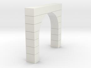 Tunnel Portal SIngle Cement 4 Foot Blocks  in White Natural Versatile Plastic