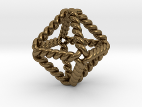 "Twisted Octahedron 1"" LH in Natural Bronze"