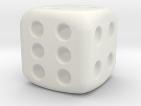 general dice  in White Natural Versatile Plastic