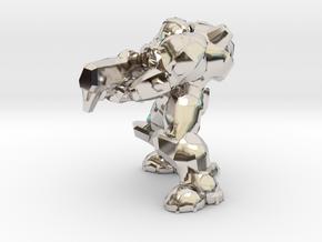 terran marine shooting 28mm heroic scale miniature in Platinum