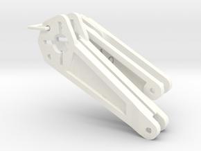 060001-01M. Beetle Rear Rear Body Mount Brace in White Processed Versatile Plastic