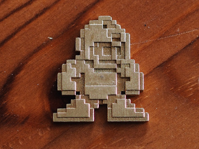 Megaman 8bit pin face in Natural Brass
