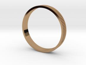 INGRANAGGI Bangle BOLD 1cm_zigrinatura thin in Polished Brass