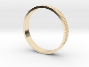 INGRANAGGI Bangle BOLD 1cm_zigrinatura thin in 14k Gold Plated Brass