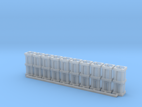 1/100th scale 32 cm Wurfkorper (10 pieces) in Smooth Fine Detail Plastic