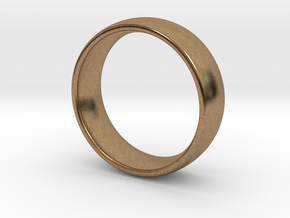 Wedding ring for male 20mm in Natural Brass