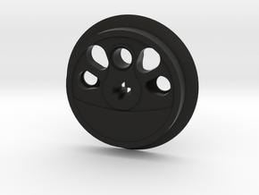 Large Boxpok Flanged Driver - Large Counterweight in Black Premium Versatile Plastic