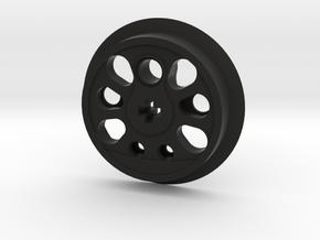 Large Boxpok Flanged Driver - No Traction Groove in Black Premium Versatile Plastic