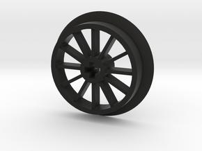 Medium-Large Flanged Driver with No Pin Hole in Black Premium Versatile Plastic