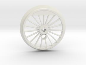 XXL Flanged Driver - 19 Spokes in White Premium Versatile Plastic