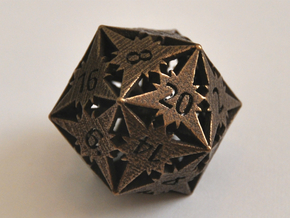 D20 Balanced - Starlight in Polished Bronze Steel