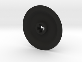 Medium-Small Thin Wheel - Solid in Black Natural Versatile Plastic
