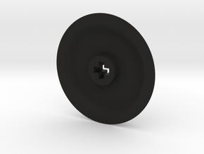 Thin Medium Solid Wheel in Black Premium Versatile Plastic