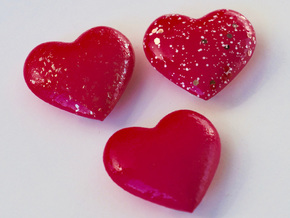 Rail_Badge_Heart 4 set in Pink Strong & Flexible Polished