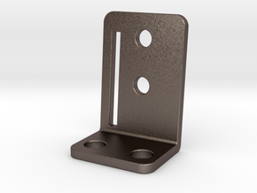 Stern Target Bracket v2 (5deg2mm) in Polished Bronzed Silver Steel