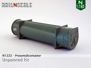 Pressmüllcontainer (N 1:160) in Smooth Fine Detail Plastic