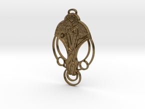 For Cardassia Festoon Pendant in Natural Bronze