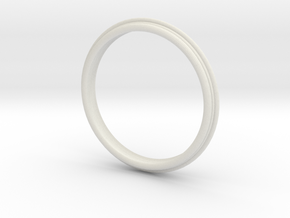 PNEUS Bangle in White Natural Versatile Plastic