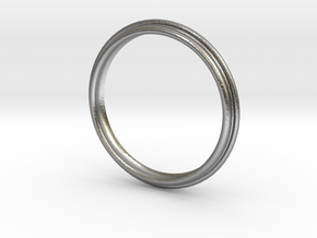 PNEUS Bangle in Natural Silver