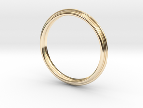 PNEUS Bangle in 14k Gold Plated Brass