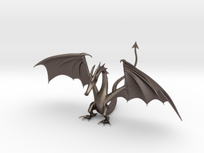 Dragon in Polished Bronzed Silver Steel