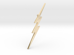 THE FLASH - Lightning Bolt Christmas Tree Ornament in 14k Gold Plated Brass