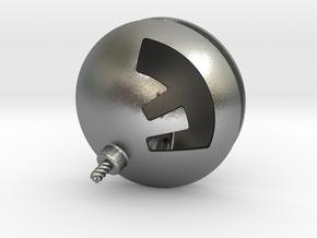 F-Bomb Pendant in Natural Silver
