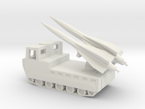 1/100 Scale M727 Hawk Missile Launcher in White Natural Versatile Plastic
