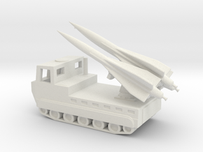 1/144 Scale M727 Hawk Missile Launcher in White Natural Versatile Plastic