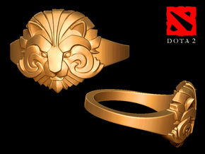 Ring of Courage in 14k Gold Plated: 6 / 51.5
