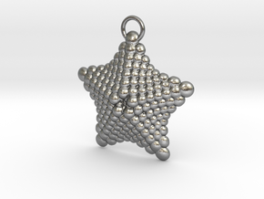 Sphere Starfish Pendant in Natural Silver