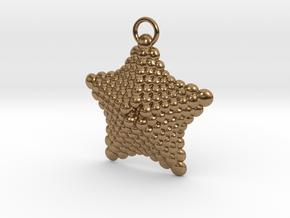 Sphere Starfish Pendant in Natural Brass