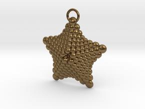 Sphere Starfish Pendant in Natural Bronze