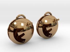 F-Bomb earrings in Polished Brass (Interlocking Parts)