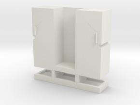 zwaar transport kist / schwerlast turm in White Natural Versatile Plastic