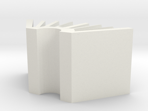 BuisnessCardHolder in White Natural Versatile Plastic: Small