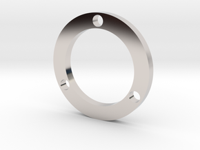 R-type Thin Full Round in Rhodium Plated Brass