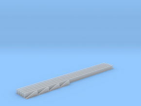 N Scale Jersey Barriers  5 each 100ft in Smooth Fine Detail Plastic