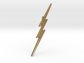 THE FLASH - Lightning Bolt Christmas Tree Ornament in Polished Gold Steel