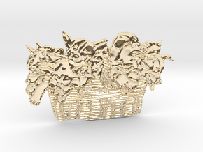 Gather Ye Puppies While Ye May in 14k Gold Plated Brass