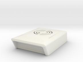 1/24th 1/25th Roof Type Air Conditioner Scoop unit in White Natural Versatile Plastic
