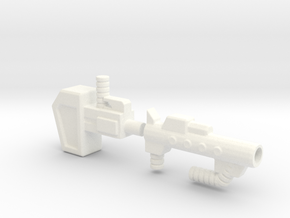 FoC OR Combiner Wars Ultra Magnus Gun OR Hammer in White Strong & Flexible Polished