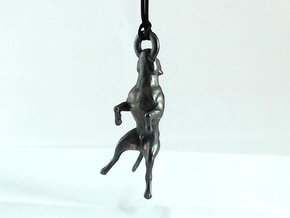 Hangin' Pitbull - Small in Polished and Bronzed Black Steel