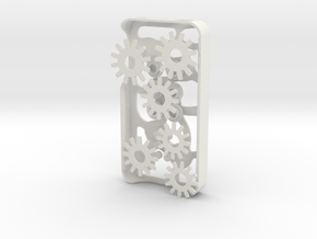 Mechanical Gears Iphone Case 4/4s in White Natural Versatile Plastic