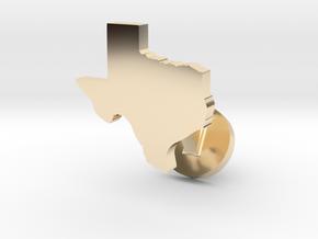 Texas Cufflink - Curved Bar in 14K Yellow Gold