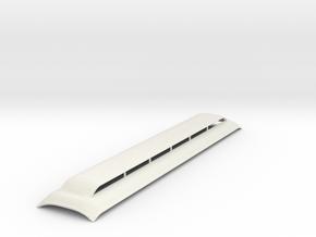 Broken Bullnose roof Sn3 scale version 1 in White Natural Versatile Plastic