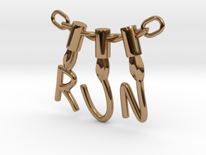 Stranger Things 'RUN' in Polished Brass