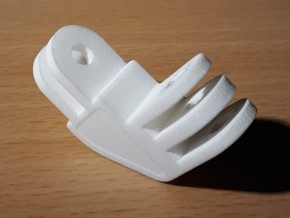 90 degrees mount for GoPro action cam in White Processed Versatile Plastic