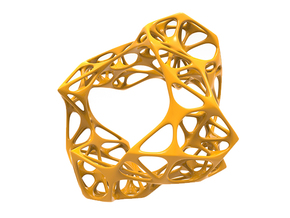Exo Bangle 1.0 in Yellow Processed Versatile Plastic: Medium